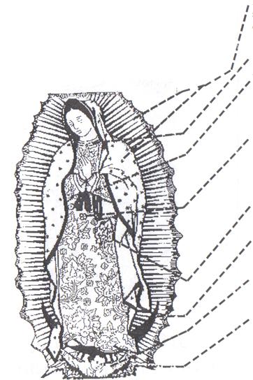 Imagenes De La Virgen De Guadalupe Para Colorear Faciles